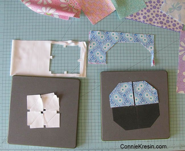 floral applique Baby quilt made with AccuQuilt dies cutting dies