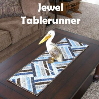 Strip Pieced Jewel Table Runner Tutorial