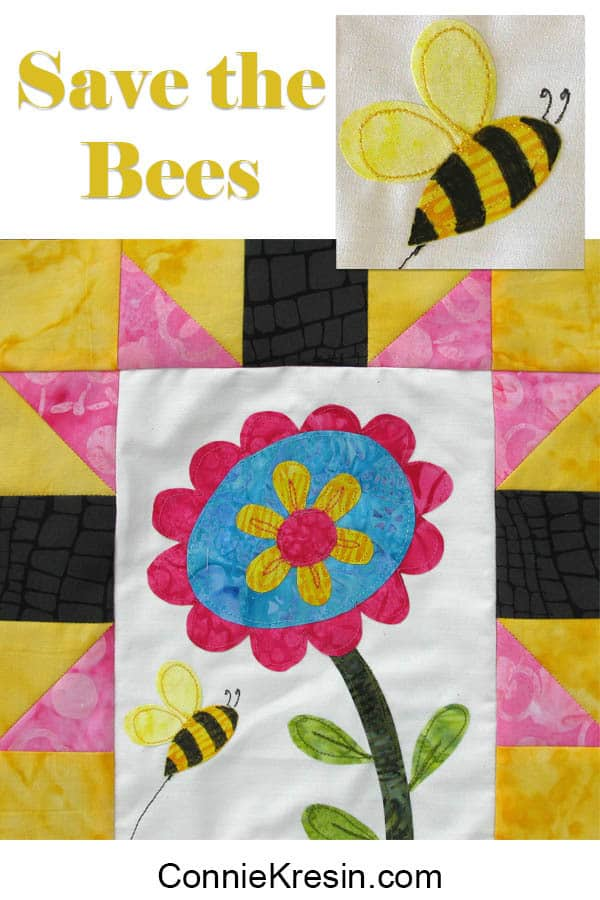 Save the Bees Block of the Month Block #1