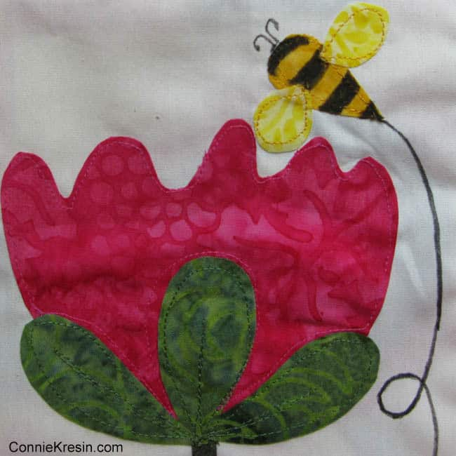 Save the Bees BOM block 2 bumblebee