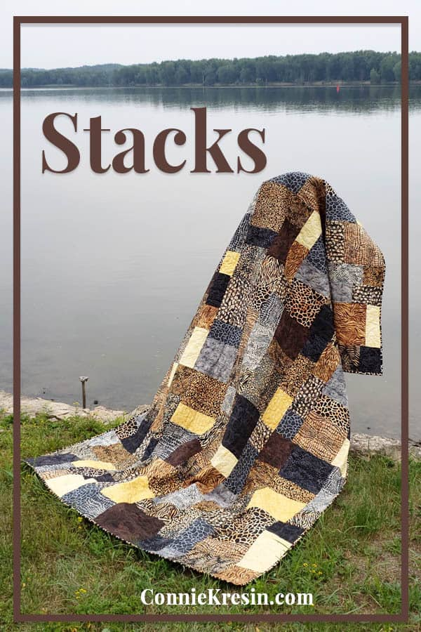 Stacks a beautiful batik quilt made with the Wild Things collection from Island Batik