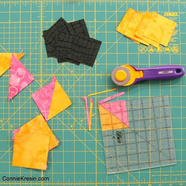 Save the Bees Block of the Month Olfa quilting supplies for HSTs