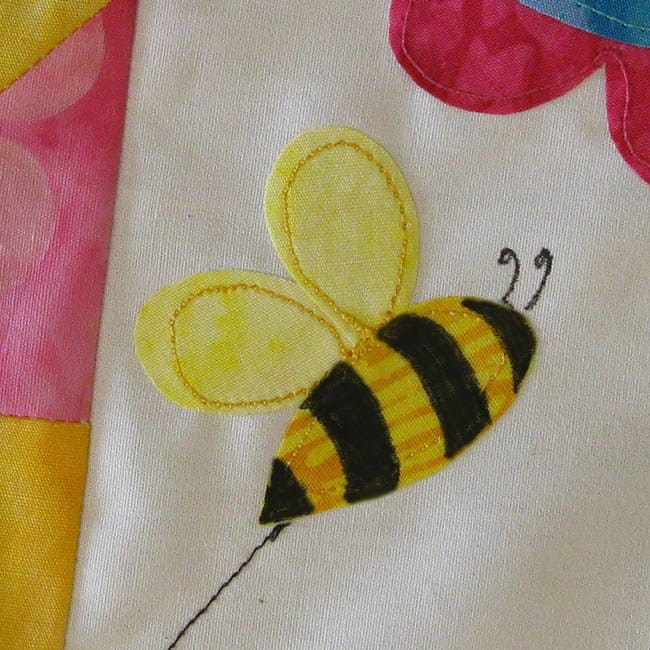 Save the Bees BOM will be made with Island Batik fabrics and a little applique bee