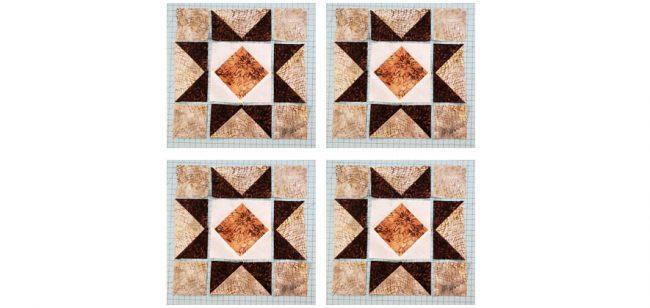 4 Diamond Star blocks