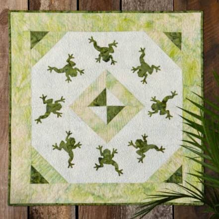 AccuQuilt Dancing Frogs free Wall Hanging pattern