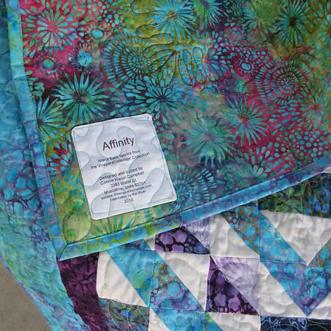 Affinity quilt pattern made with Island Batik fabrics