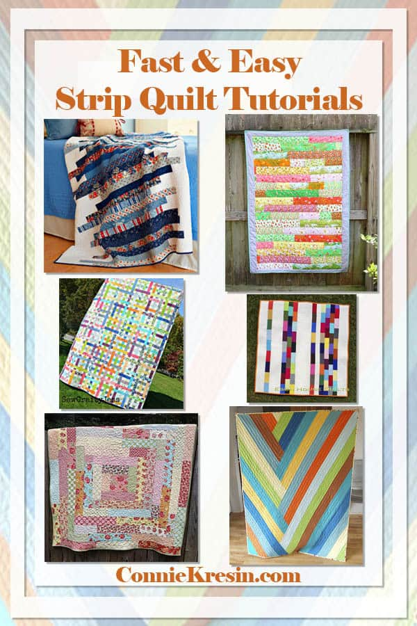Fast and Easy Strip Quilt tutorials for babies and friends