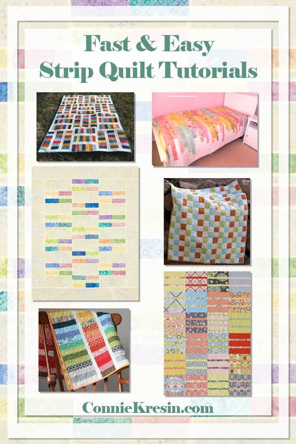 Fast and Easy Strip Quilt tutorials and patterns roundup