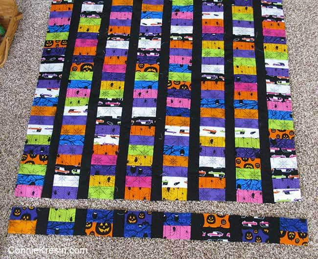 Quilt was too long so removed some blocks