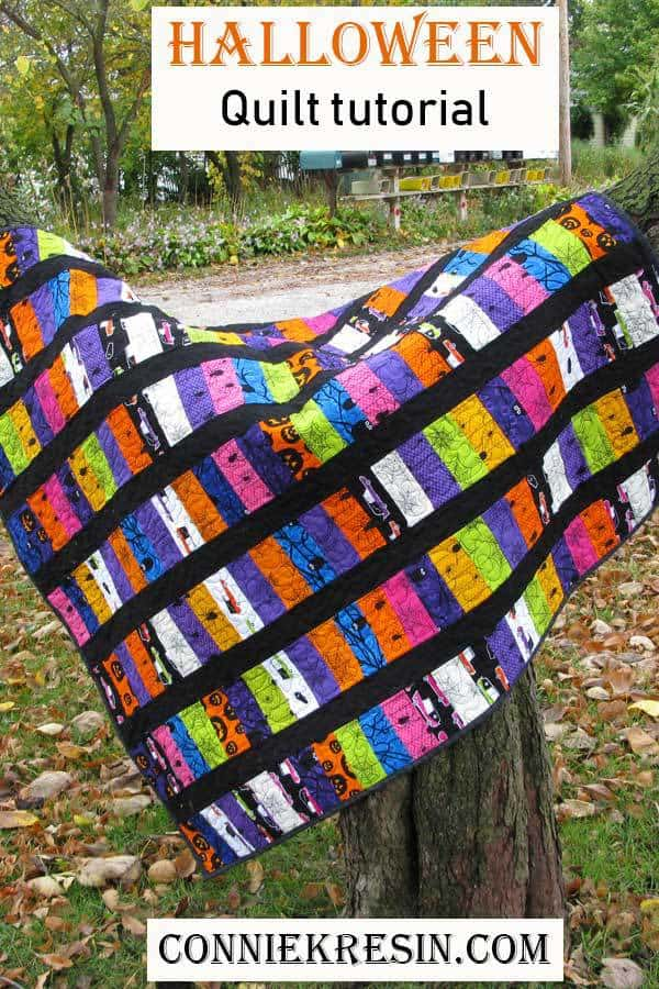 Halloween Eerie Alley quilt tutorial fast and easy to make