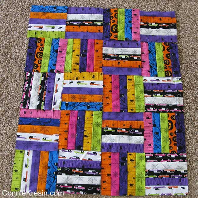 another fun quilt design using a jelly roll