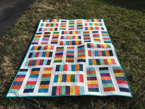 Meet Cute quilt from charm squares
