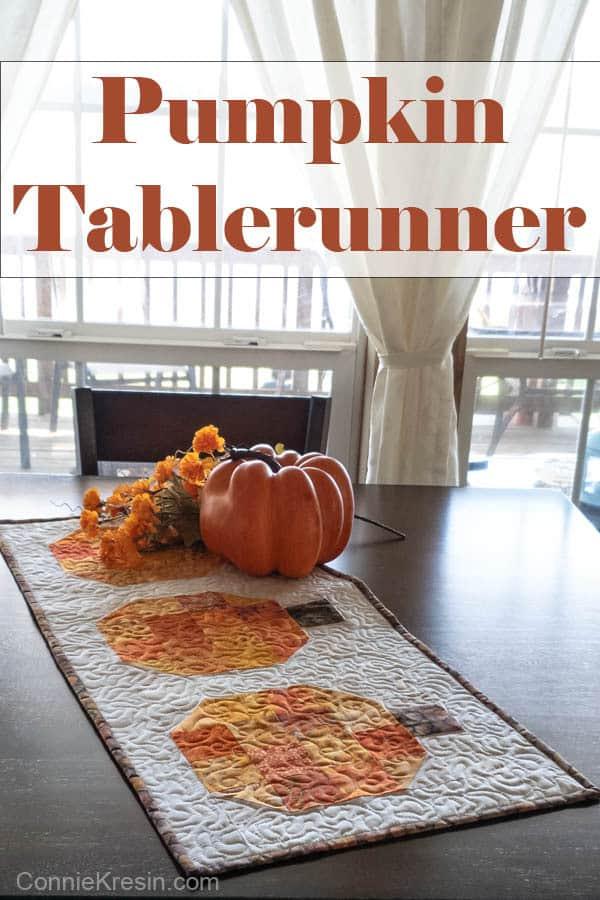 Pumpkin batik tablerunner and block tutorial