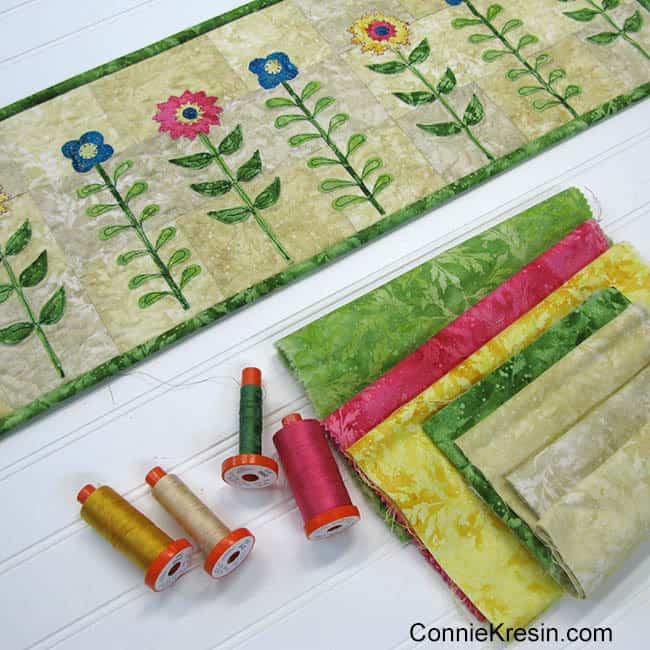 Wild Flowers Row made with fabrics from Northcott