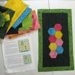 Save the Bees BOM Block 3 made from batiks with free pattern
