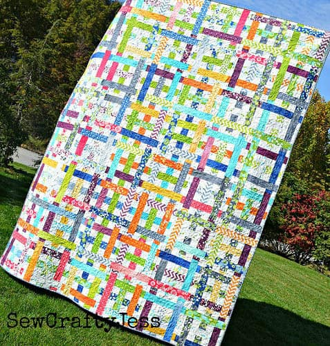 Simply woven quilt tutorial