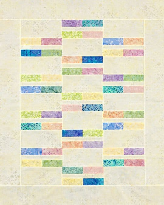 Stacked Pastel Strip Quilt