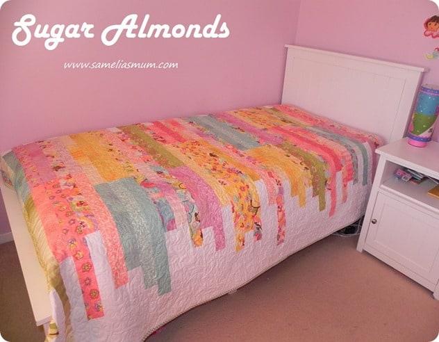 Sugar Almonds Quilt tutorial