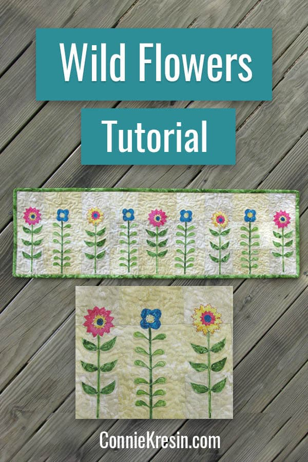 Wild Flower Row by Row design and free pattern by Connie Kresin Campbell