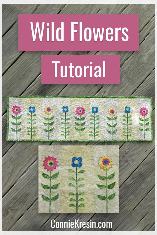 Wild Flower Row by Row design and free tutorial by Connie Kresin Campbell