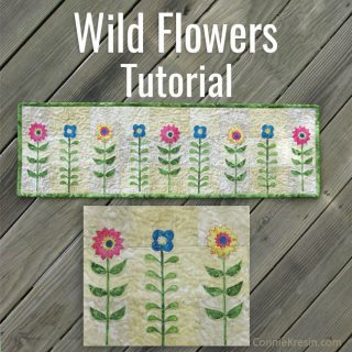 Wildflowers quilt tutorial and free pattern