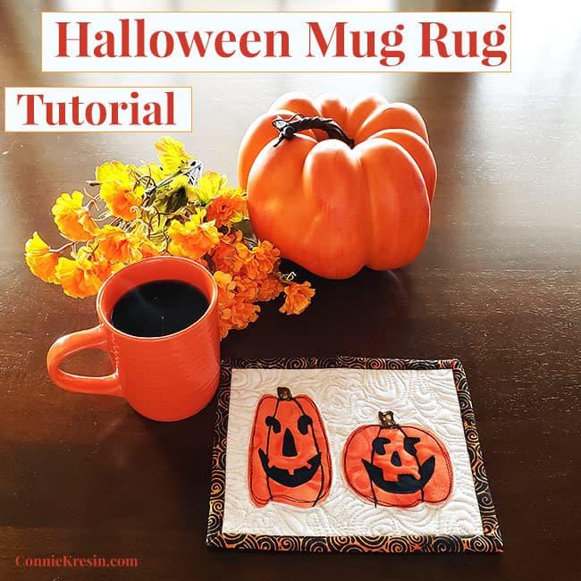 Halloween mug rug tutorial free template