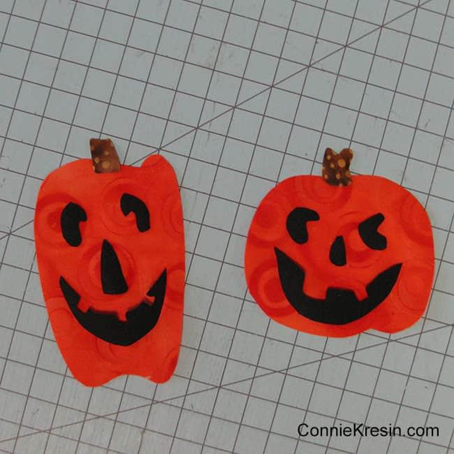 Halloween Two Pumpkins mug rug applique done