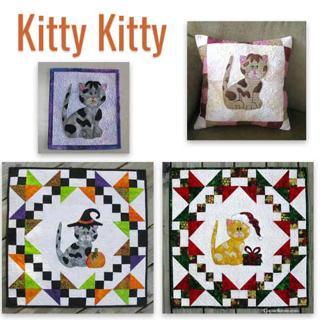 Kitty Kitty quilt pattern 4 different ways to use it