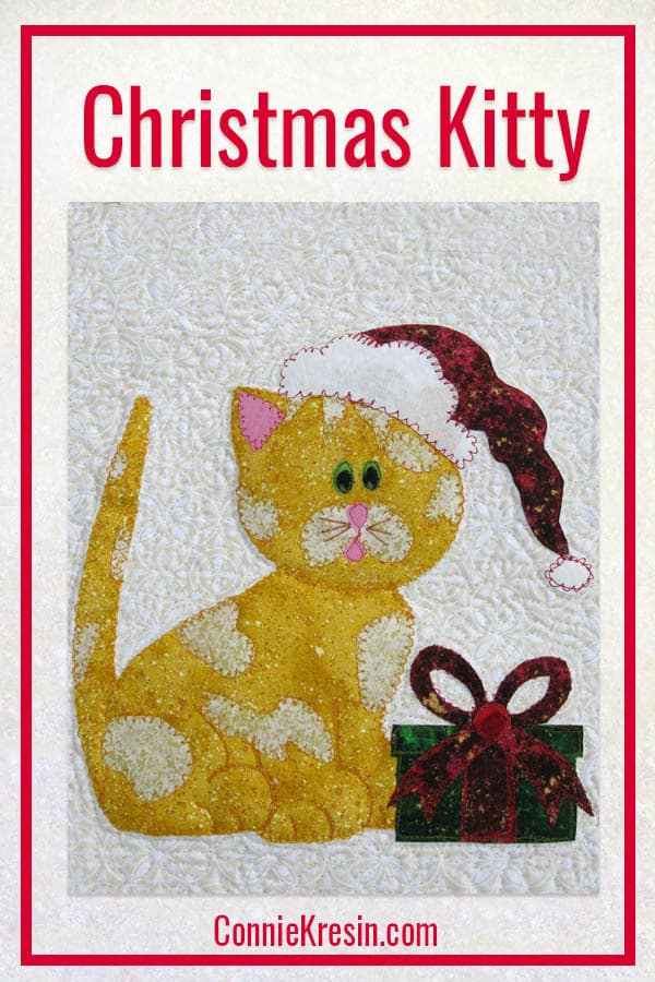 Christmas Kitty Kitty applique and wall hanging pattern