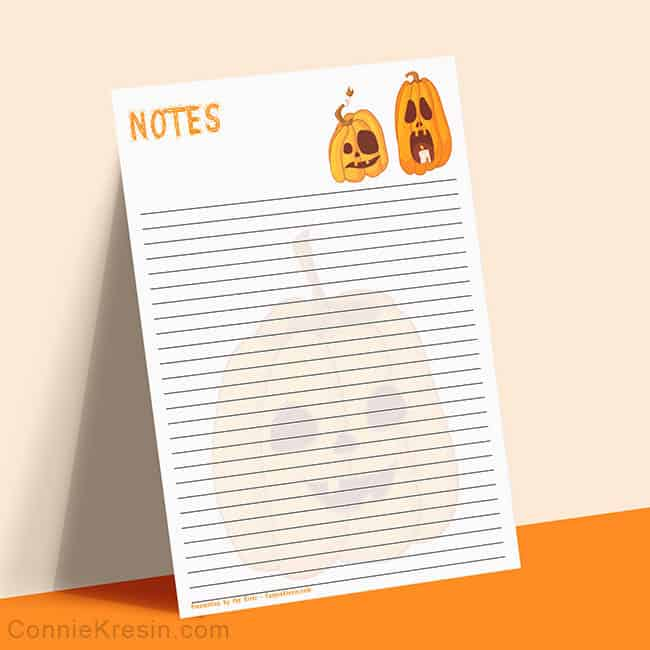 Free Halloween printable notepaper that you can print
