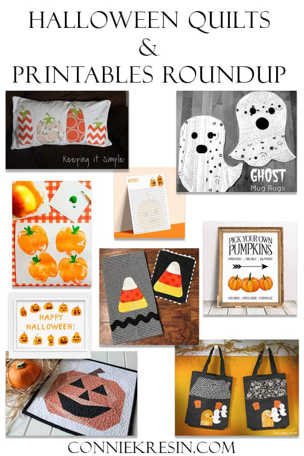 Halloween roundup of free quilt projects and printables