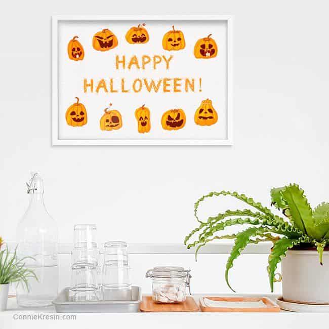 Happy Halloween Printable Saying