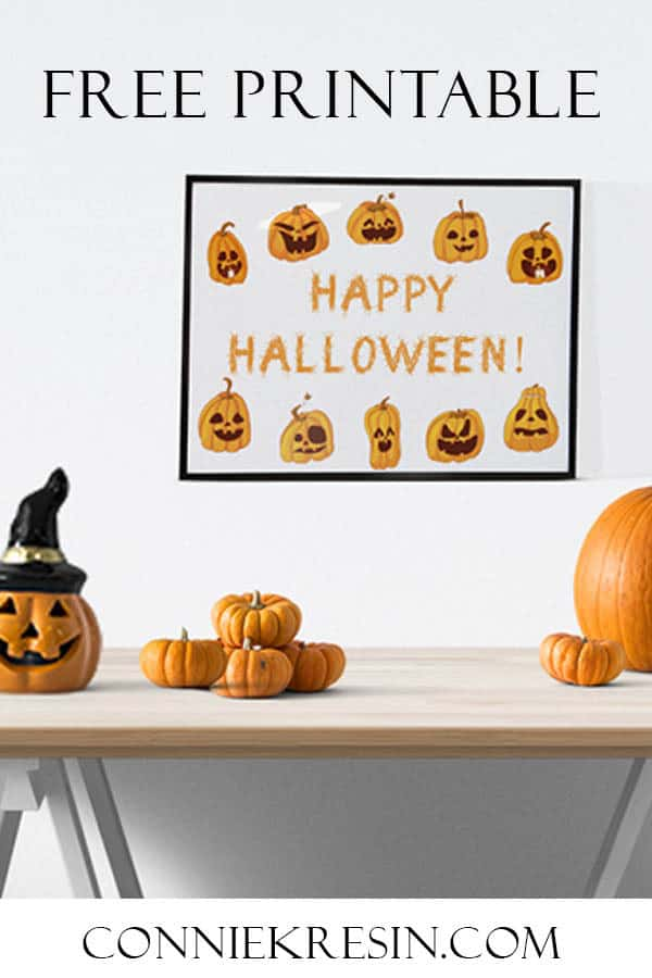 Happy Halloween free printable that you can frame for Halloween
