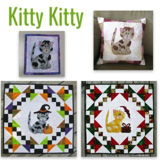 Kitty Kitty applique as a pillow
