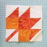 Maple Leaf quilt block in batik fabrics