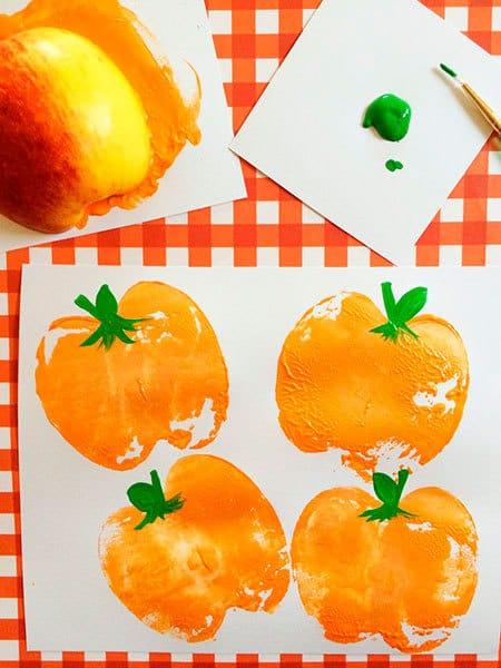 Halloween Pumpkin Apple Stamp