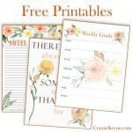 Free printables for a Thankful pictures and some others