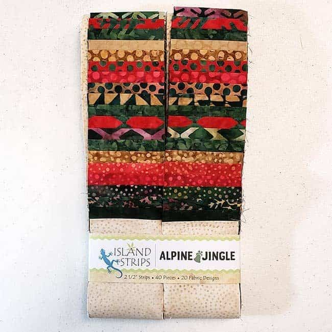 Alpine Jingles batik strip from Island Batik