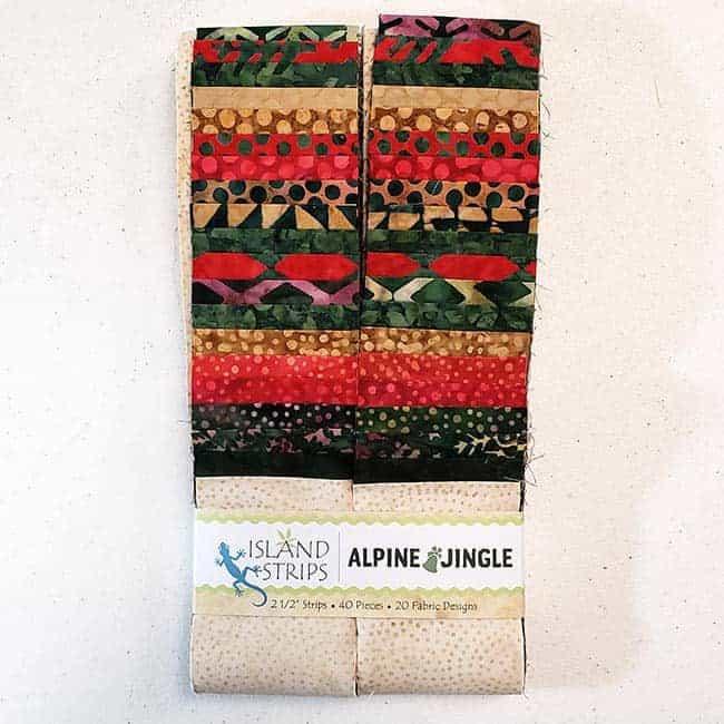 Alpine Jingles batik strip from Island Batik