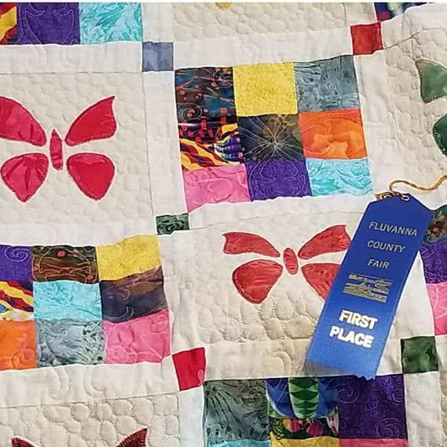 Butterfly Baby quilt made by Mary Ann
