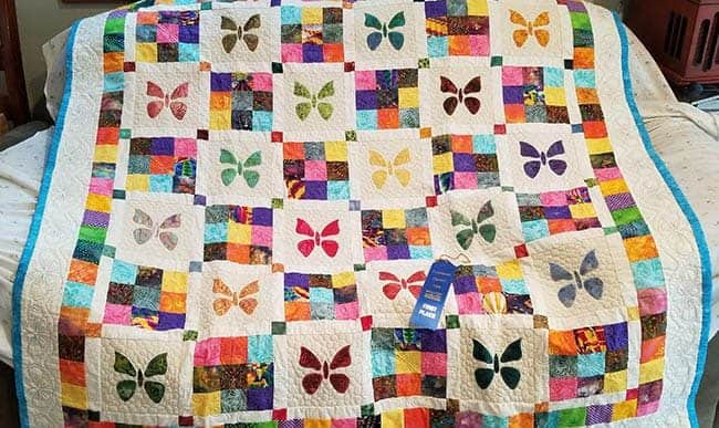Butterfly Baby quilt by Mary Ann