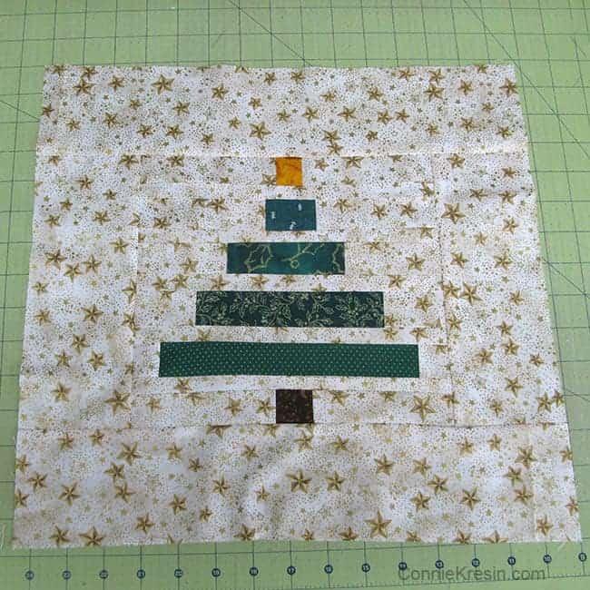 Wonky Christmas Tree pillow