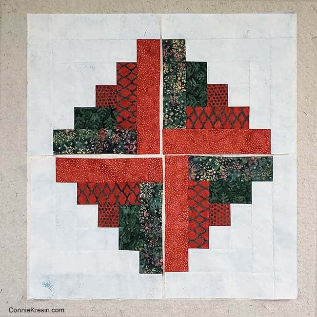 Christmas Logs step 7 sew blocks together