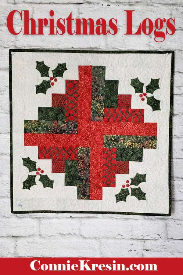 Log Cabin Christmas Quilt.Christmas Log Cabin Quilt Tutorial Freemotion By The River
