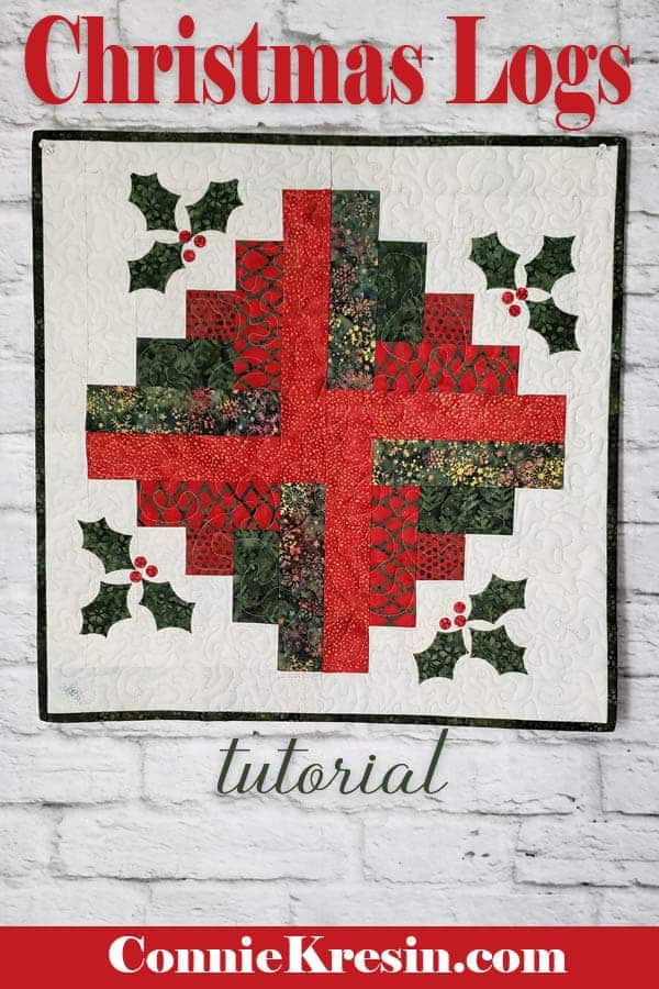 Christmas Log Cabin wall hanging tutorial