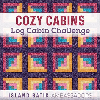 Cozy Cabins Log Cabin Challenge from Island Batik