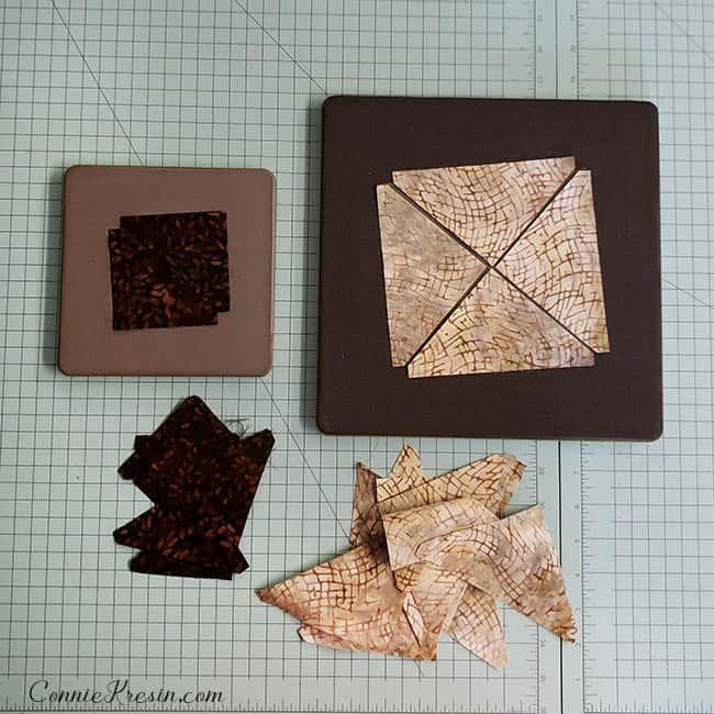 Diamond Stars quilt blocks quarter square triangles