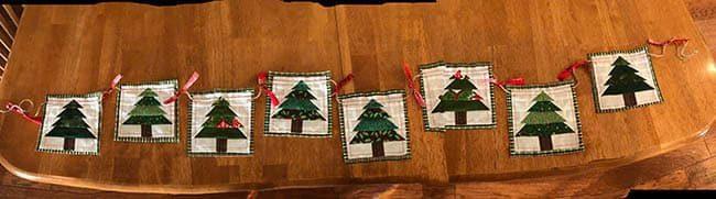 Christmas Tree Mug Rug garland for tree