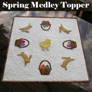 Spring Medley table topper tutorial