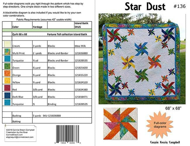 Star Dust quilt pattern cover